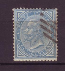 J20070 jlstamps 1863 italy used #28 king