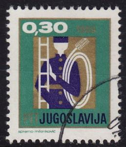 Yugoslavia - 1969 - Scott #958 - used - Chimney Sweep