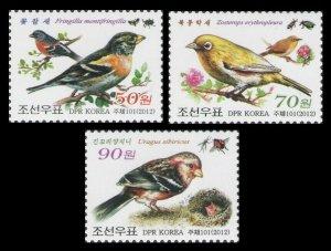 Korea 2012 birds insects set MNH