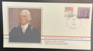 US #1105,2115 On Cover - Bicentennial of Constitution 1787-1987 [BIC54]