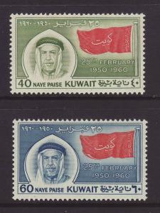 1960 Kuwait Set Mounted Mint SG144/145