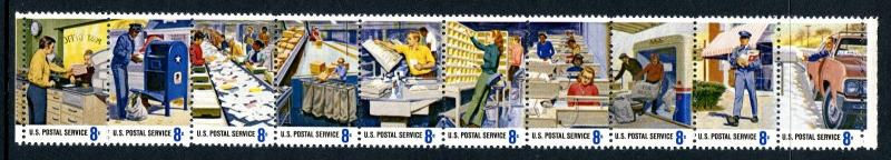 Postal People Strip of 10