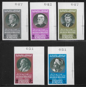 Jordan Michel 633-637 World Leaders IMPERF  MNH c.v. 20.00 Euro