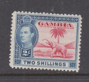GAMBIA, 1938 KGVI, Elephant, 2s. Carmine & Blue, lhm.