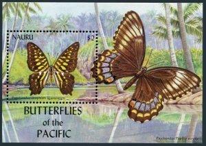 Nauru 498 sheet,MNH. Butterflies of the PACIFIC,2002.Graphium agamemnon.