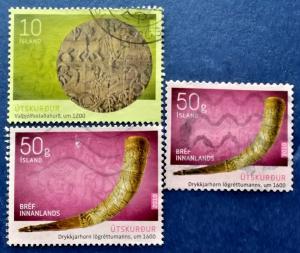 Iceland Scott # 1189, 1190 & 1192 Used (I681)