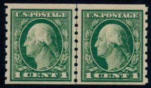 US Scott #412PR Mint, FVF, NH, Paste Up Left