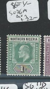 NORTHERN NIGERIA (P1907B) KE 1/-  SG 26A  MOG