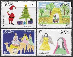 St. Kitts Scott 102-105 MNH Christmas Set of 1982