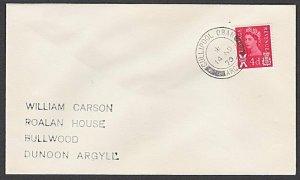 GB SCOTLAND 1970 cover CULLIPOOL / OBAN ARGYLL cds..........................L508