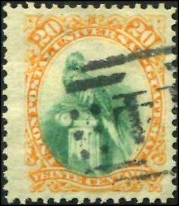 Guatemala SC# 25 Quetzal 20c Used SCV $5.25