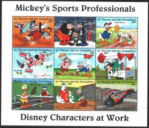 Saint Vincent and the Grenadines. 1996. ml 3426-34. Disney Cartoons. MNH.