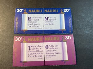 NAURU # 236-239(237a-239a)-MINT/NEVER HINGED---COMPLETE SET IN PAIRS---1981