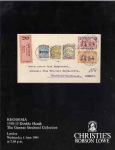 Auction Catalogue - Rhodesia - Christie's 1 June 1994 - t...