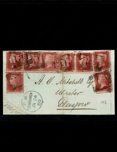 Stanley Gibbons Great Britain #29 Fine on cover.