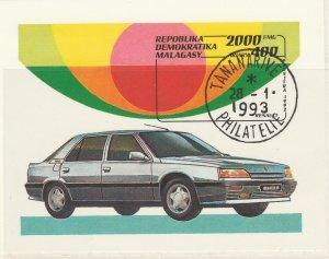 Malagasy Republic 1993 Renault cars Sheet Mi. Block 206 Used 11891