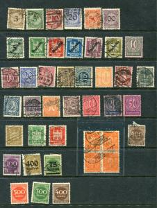 Germany 1921 and up Accumulation Numerical Used  2195hs