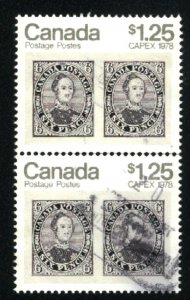 Canada 756   -1   Pair  used  1978 PD