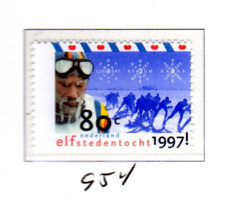 NETHERLANDS #954  CROSS-COUNTRY SKATING CHAMPIONSHIP   MINT  VF NH