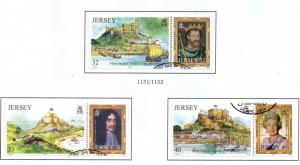 Jersey Sc 1131-3 2004 Mont Orgueil Monarchs stamp set used