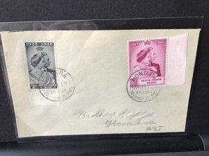 Honiara British Solomon Islands 1949 high value stamps cover Ref  R28342