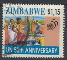 Zimbabwe SG 915  SC# 747 Used  1995 United Nations  see detail and scan