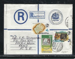 LESOTHO  (PP0310B) 1981  RLE+ 4C MAP+15S+2S MAFETENG TO SOUTH AFRICA
