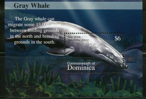 DOMINICA WHALES SHEET & SOUVENIR SHEET MINT NH