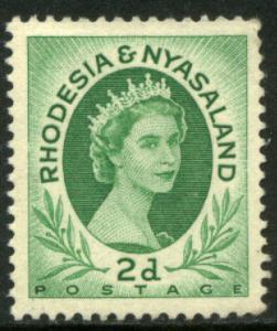 RHODESIA & NYASALAND 143, 2p QUEEN ELIZABETH II. MNH. F-VF. (38)