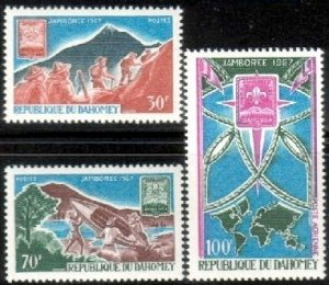 12th Boy Scout World Jamboree Dahomey SC#239-240+C59 MNH set