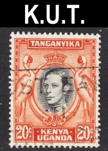 Kenya Uganda Tanzania Scott 74 UNLISTED perf 13 1/2 x 13 3/4 VF used.