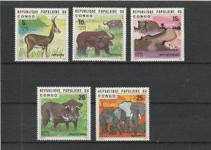Congo People's Republic  Scott#  374-8  MNH  (1976 Animals)
