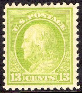 US Stamp #513 13c Franklin MINT Hinged SCV $9.50