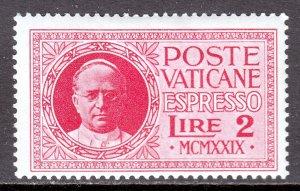 Vatican City - Scott #E1 - MH - SCV $18.00