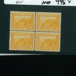 United States Postage Stamp #400 Mint VF Block of 4 Catalogue Value $1240