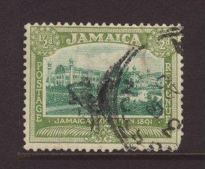 1920 Jamaica ½d Wmk Mult Crown CA Inverted Used ? Rare SG78w