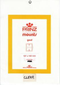 PRINZ CLEAR MOUNTS 187X160 (4) RETAIL PRICE $10.50