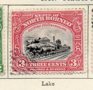 North Borneo 1909 Early Issue Fine Used 3c. NW-113837