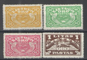 Lithuania 1924 Sc# C32-C34 MH VG - Nice air mail set
