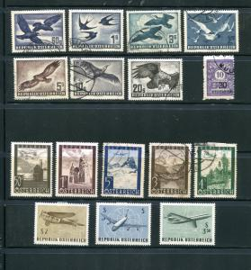Austria  Air Mail  Mint and used VF