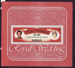 Kiribati-Sc#379-Unused NH sheet-Royal Wedding-Prince Charles-Princess Diana-1981