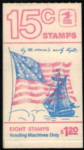 US #1598a COMPLETE BOOK, BK130  VF mint never hinged,   Super nice book!