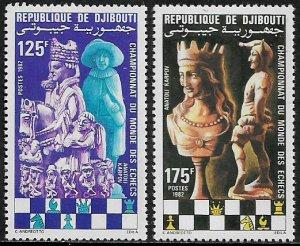 Djibouti #545-6 MNH Set - World Chess Championships