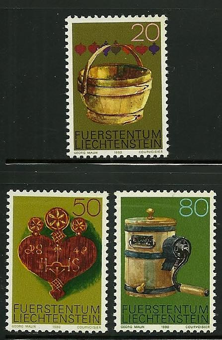 Liechtenstein # 687-9, Mint Never Hinge