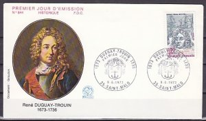 France, Scott cat. B467. Naval Commander issue. First day cover. ^