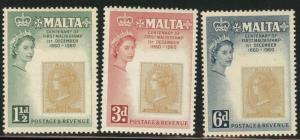 MALTA  Scott 281-83 MH* stamp on stamp set
