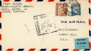 FAM18-2a First Flight Horta Azores To Lisbon Portugal