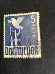 Germany #577 Used 2015 Scott $80. 1948 5Mark Reaching For Peace USED1948 Cancel