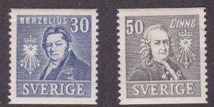 Sweden # 295-296, Famous Men, Hinged, 1/3 Cat.
