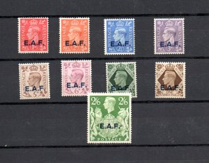 Br.occupation of Somalia 1943-46 set of 9 u/mint